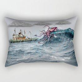 Kraken Attack Rectangular Pillow
