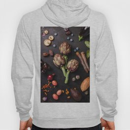 Assortment raw organic of purple ingredients Hoody