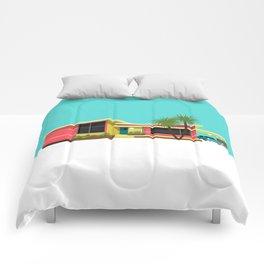 Mid Century House, Miami Comforters