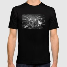 Fly Over Cities Mens Fitted Tee Black MEDIUM