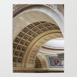 Wisconsin Capitol Building Arches And Angles Poster