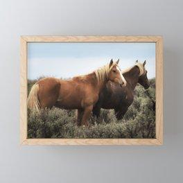Palomino Buttes Herd - Wild Horses Framed Mini Art Print