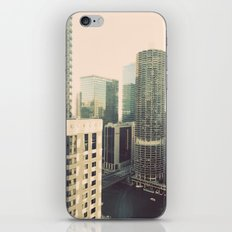 Chicago River Marina Tower Color Photo iPhone & iPod Skin