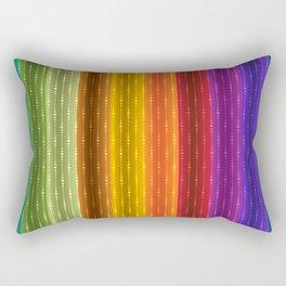 Jewel Tone Color Stripes Rectangular Pillow