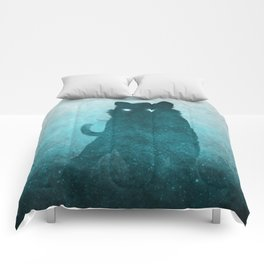 Space Tiger Silhouette Comforters