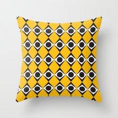 Orange diamond & circles pattern Throw Pillow