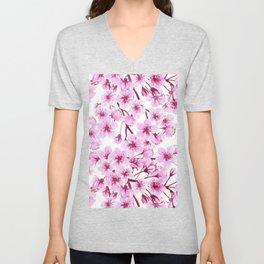 Cherry blossom pattern Unisex V-Neck