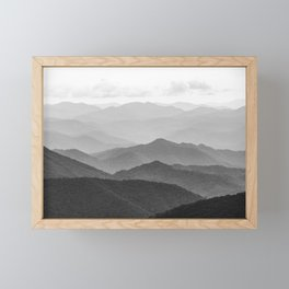 Forest Fade - Black and White Landscape Nature Photography Framed Mini Art Print