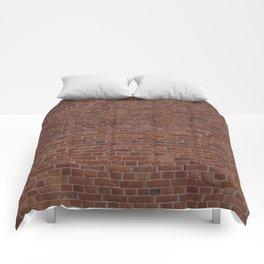 Brooklyn NYC Loft Apartment Brown Stone Brick Wall Comforters