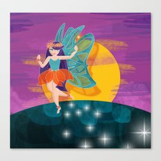 My first fairy  Canvas Print