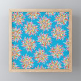 Explosion Pattern Framed Mini Art Print