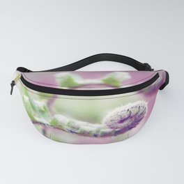 Ferns in Green, Purple, and Pink Fanny Pack