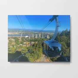 Portland Aerial Tram Metal Print