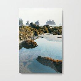 Blue Tidal Pool Metal Print