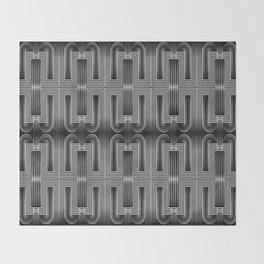 Art Deco 32 . Graffiti black and white Throw Blanket