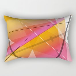 Cranberry Orange Geometric Abstract Art Rectangular Pillow