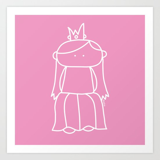 Princess Art Print