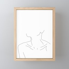 Woman's neckline illustration - Ali Framed Mini Art Print