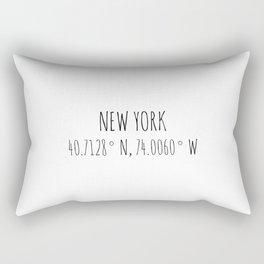 New York Coordinates Rectangular Pillow
