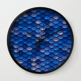 Blue Penny Scales Wall Clock