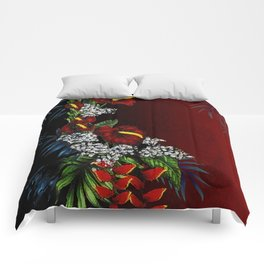 Exotic Tropical Flowers Comforters