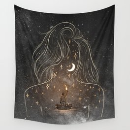 I see the universe in you. Wall Tapestry
