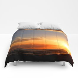 Sunset in the Bay Comforters