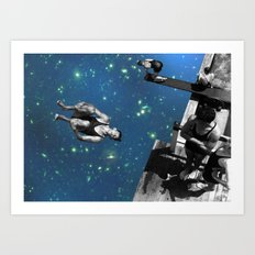 Star diving Art Print