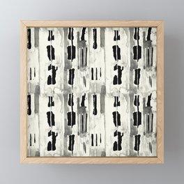 Minimal Black and Cream Abstract Design Framed Mini Art Print