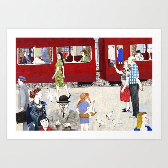 At the station Art Print