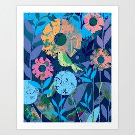 Lime Green Sparrow Art Print