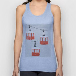 Barcelona Cable Cars Unisex Tank Top