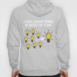 Problem Solving or Brainstorming Tshirt Design Brainstorming method for team Hoody