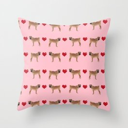 Sharpei love hearts dog breed gifts pet friendly sharpei dogs Throw Pillow