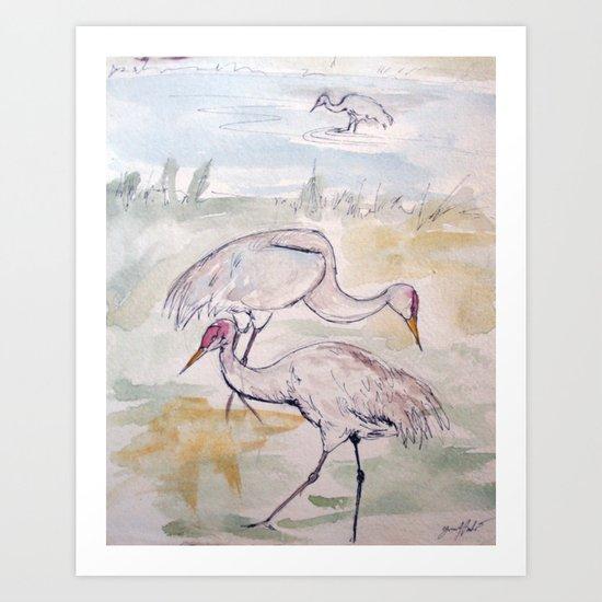 Heron Sketch #1 Art Print