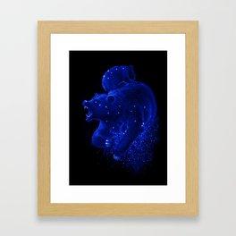 Blue Ursa Framed Art Print