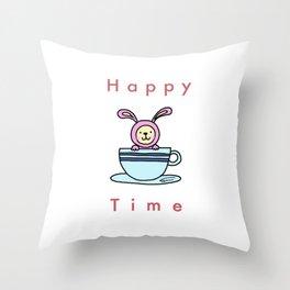 Happy Time Throw Pillow