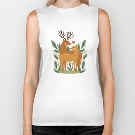Deer Love Biker Tank