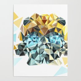 Bumblebee Low Poly Portrait Poster