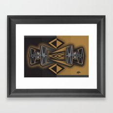 Golden Fighters Framed Art Print