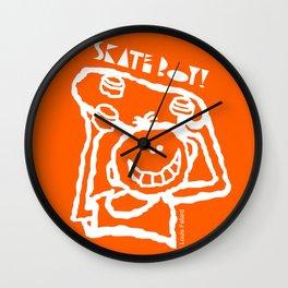 Skate Boy Orange Wall Clock