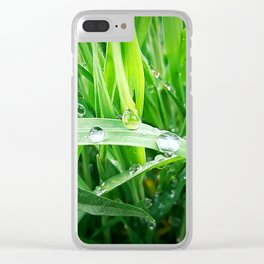 green grass Clear iPhone Case