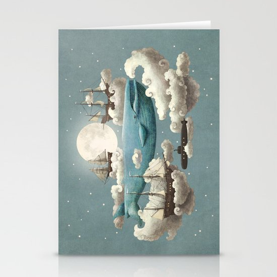 Ocean Meets Sky - colour option Stationery Cards