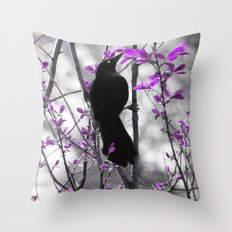 The Grackle Throw Pillow