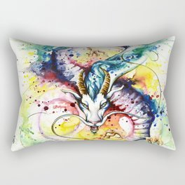 """Into the mirror"" n°5 : The Dragon Rectangular Pillow"