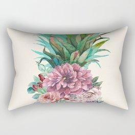 Floral Pineapple Rectangular Pillow
