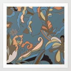 Modern Abstract Shapes Art Print