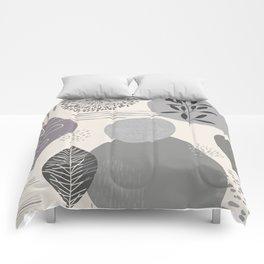 Abstract Fall Arrangement in Grey Comforters