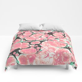 Deliciously Marble #society6 Comforters