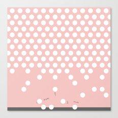 polka dots bounce Canvas Print